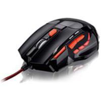 Mouse Multilaser, Usb Com Fio, Gamer Optico, Vermelho Mo236