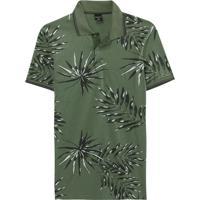 Camisa Verde Musgo Polo Tropical Slim