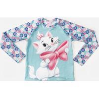 Blusa Infantil Marie Proteção Uv Disney