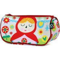 Estojo Necessaire Ó Design Sorriso Infantil - Chapeuzinho Vermelho - Od-Nscv - Branco - Kanui