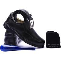 Kit Masculino Sapato+Cinto+Meia+Calçadeira Doctor Shoes - Masculino-Preto