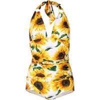 Dolce & Gabbana Maiô Decote Em V Profundo - Amarelo