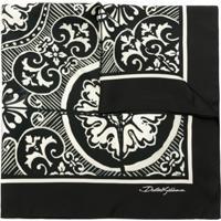 Dolce & Gabbana Lenço De Seda Estampado - Preto