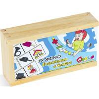 Jogo Educativo Carlu Brinquedos Domino Branco