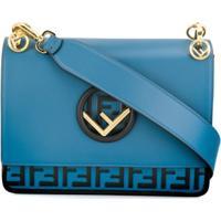 Fendi Bolsa Tiracolo Com Monograma - Azul