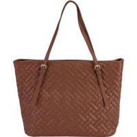 Shopping Bag Stz Matelassê Geométrico Marrom -