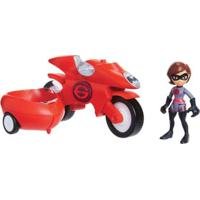 Veículo Com Mini Figura - 7 Cm - Disney - Pixar - Os Incríveis 2 - Escavadeira - Sunny