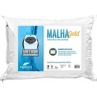 Travesseiro Fibra Siliconizada Malha Gold