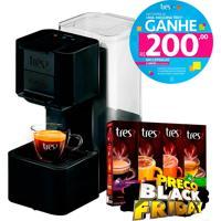 Kit Exclusivo Ricardo Eletro: Máquina De Café Espresso E Multibebidas Automática Pop Preta Três Corações + 40 Cápsulas Imediato + Voucher R$200