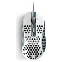 Mouse Gamer Óptico Ultraleve Fallen Gear Tempest Branco E Cinza - F65