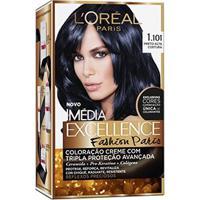 Tintura Imédia Excellence L'Oréal Fashion Paris 1.101 Preto Alta Costura - Unissex-Incolor
