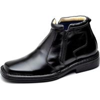 Bota Clube Do Sapato De Franca Zipper Confort Antistress Preto