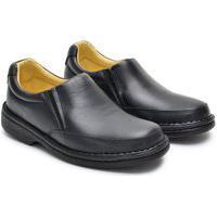 Sapato Anti Stres Masculina Couro Calce Conforto Macio Preto 37 Preto