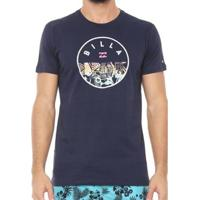 Camiseta Billabong Rotor Fill Xii Masculina - Masculino-Marinho