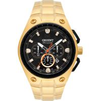 Relógio Orient Masculino Mgssc019 P2Kx Pulseira E Caixa Aço Dourado Mostrador Preto