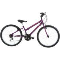 Bicicleta Oxer Lover Girl - Aro 24 - Freio V-Brake - 18 Marchas - Feminina - Infantil - Roxo