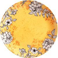 Prato Raso Coup Iii Floral E Amarelo