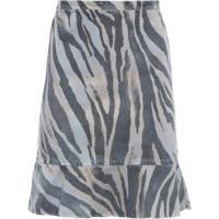 f63b847ff1 Saia Babados Barra Estampa Zebra Militar Bobstore - Animal Print