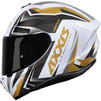 Capacete Axxis Draken Vector Branco E Dourado Multicolorido
