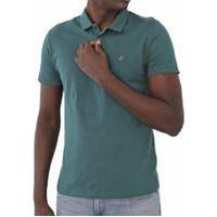 Camisa Polo Dudalina Reta Logo Verde - Original
