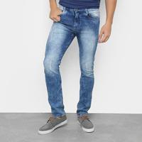 Calça Jeans Skinny Opera Rock Estonada Masculina - Masculino-Jeans