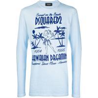 Dsquared2 Moletom Com Logo - Azul