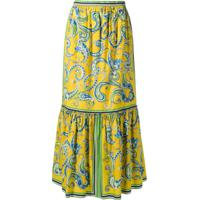 Philosophy Di Lorenzo Serafini Paisley Skirt - Amarelo