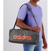 Bolsa Adidas Linear Duffle Cinza