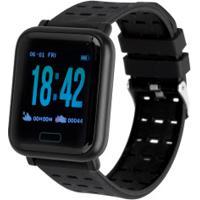 Monitor Cardíaco Relógio Inteligente Oxer Oxwatch Wearfit - Preto