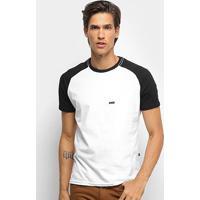 Camiseta Hd Raglan Minimal Masculina - Masculino-Branco