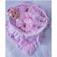 Saída De Maternidade Rosa Menina