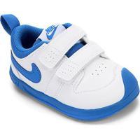 Tênis Infantil Nike Pico 5 Velcro - Masculino-Branco+Azul