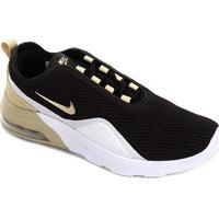 Tênis Nike Wmns Air Max Motion Feminino - Feminino-Preto+Dourado