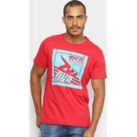 Camiseta Onbongo Estampada Box Masculina - Masculino-Vermelho