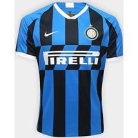 Camisa Inter De Milão Home 19/20 S/Nº Torcedor Nike Masculina - Masculino