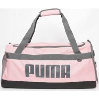 "Bolsa Transversal ""Puma®"" - Rosa Claro & Cinza - 26Xpuma"