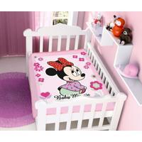 Cobertor Disney Rosa Minnie Florzinhas Jolitex