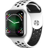 Relógio Smartwatch F8 Monitor Cardíaco Branco/Preto