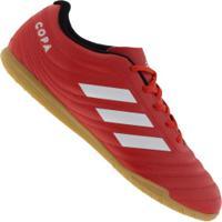 Chuteira Futsal Adidas Copa 20.4 In - Adulto - Vermelho/Branco