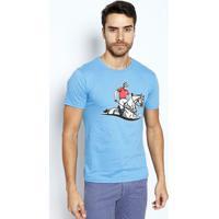 """Camiseta """"Polo Player""""- Azul Claroclub Polo Collection"""