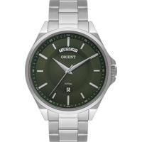 Relógio Orient Masculino Mbss2013A E1Sx Pulseira E Caixa Aço Prateado Mostrador Verde