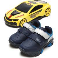 Tênis Klin Menino Speed 250 Com Carrinho Azul-Marinho