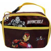 Lancheira Térmica 2 Bolsos Iron Man Tie Die