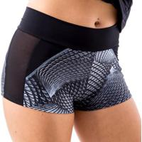 Shorts Aysha Íon Fitness Com Recorte Em Tule - Feminino