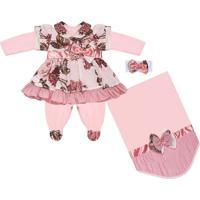 Saída Maternidade Padroeira Baby Naomi Rosa