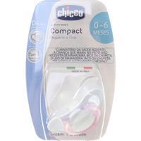 Chupeta Compact Chicco Silicone Tam1 0-6M 1 Unidade - Feminino