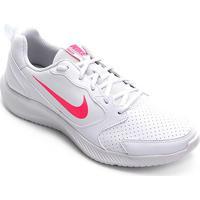 Tênis Nike Todos Flyleather Feminino - Feminino-Branco+Rosa