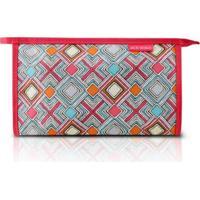 Necessaire Envelope Estampada Grande Jacki Design Nylon - Feminino-Pink