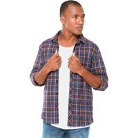 Camisa Coca Cola Jeans Xadrez Roxa