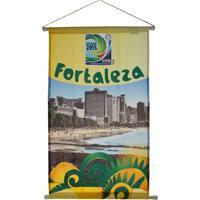 Flâmula Licenciados Copa Do Mundo Cidades Poly Fortaleza Amarela